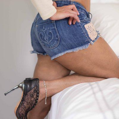 boudoir cutoff shorts
