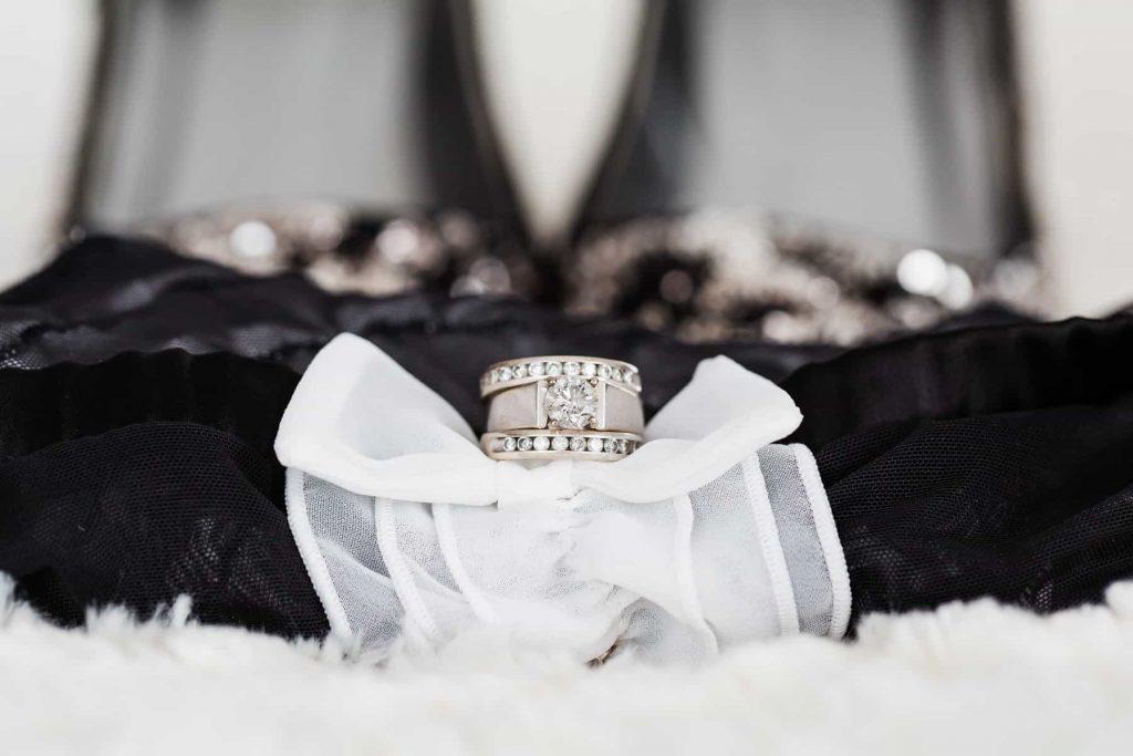 Boudoir Detail Photo of Wedding Ring