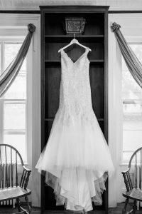 Beaded bodice wedding dress