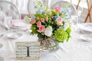 Wedding Table No 1 with Musical Theme