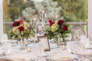 Candlelit wedding table decor