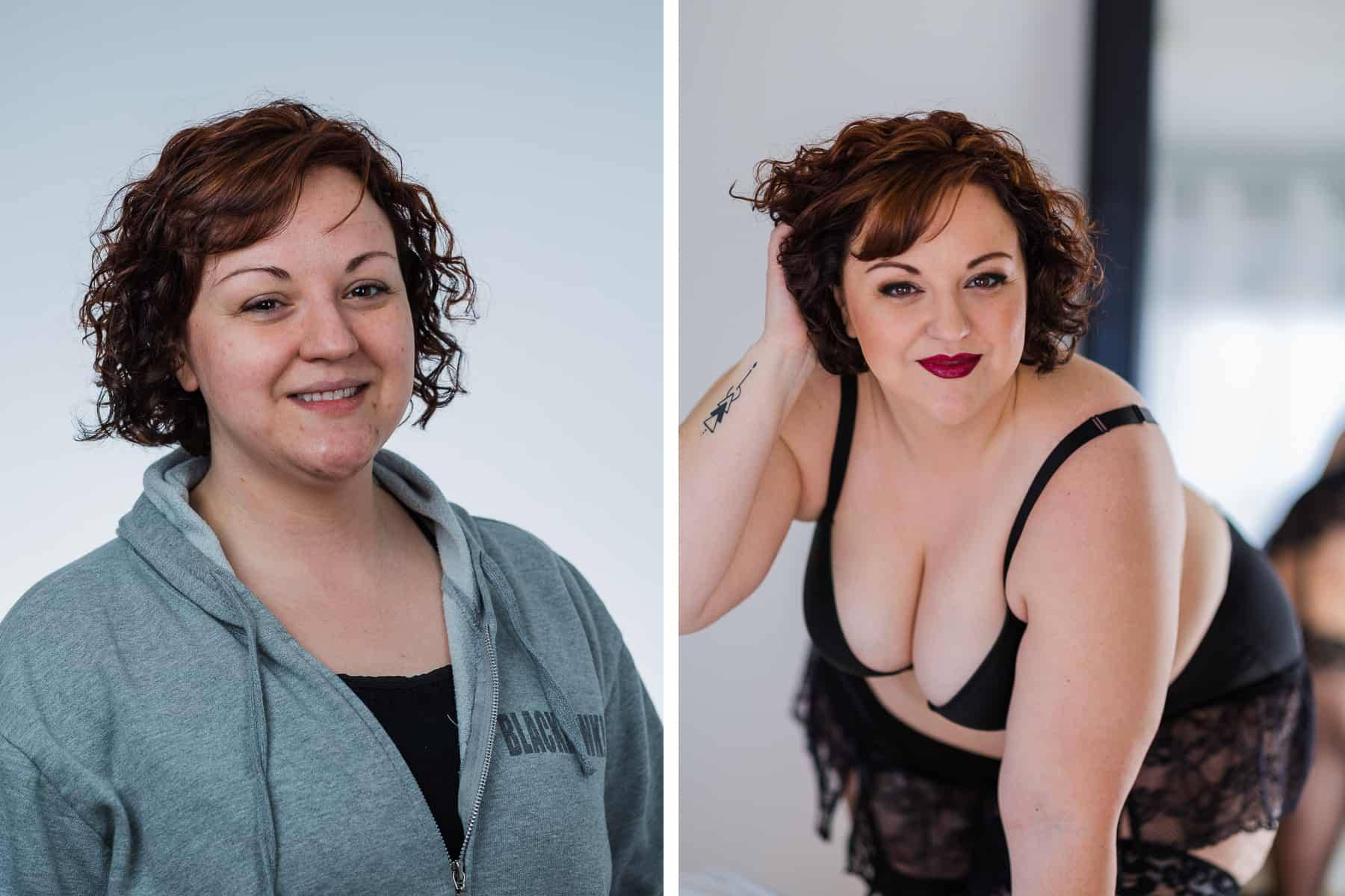 Boudoir Before-After Photo